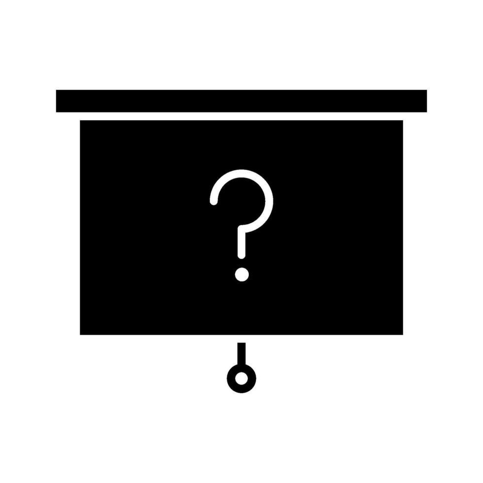 icona di vettore di domanda