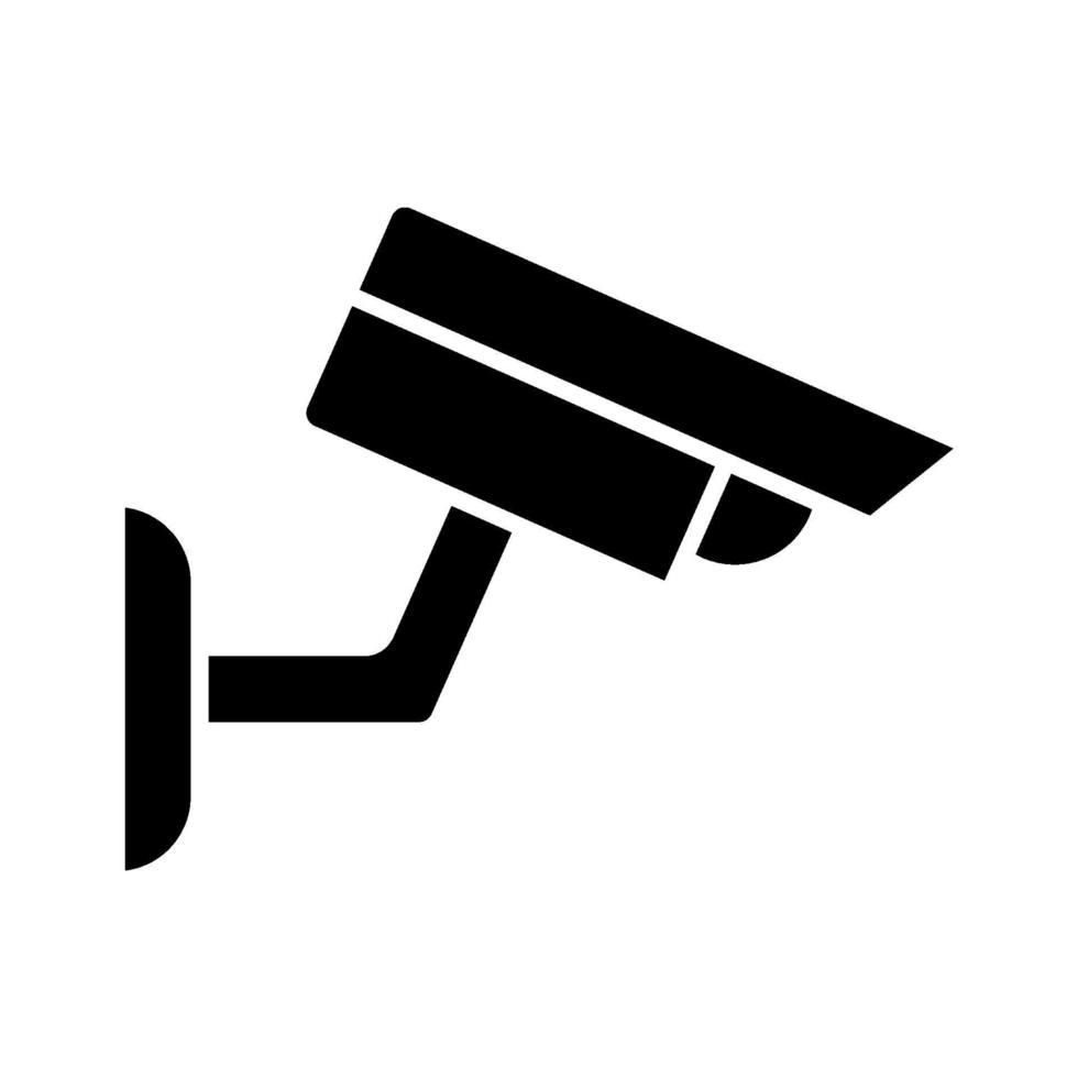 icona della fotocamera cctv vettore