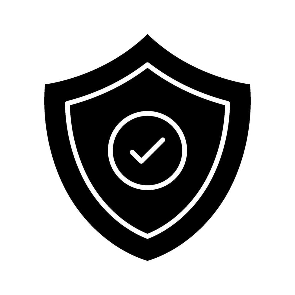 icona dello scudo di sicurezza vettore