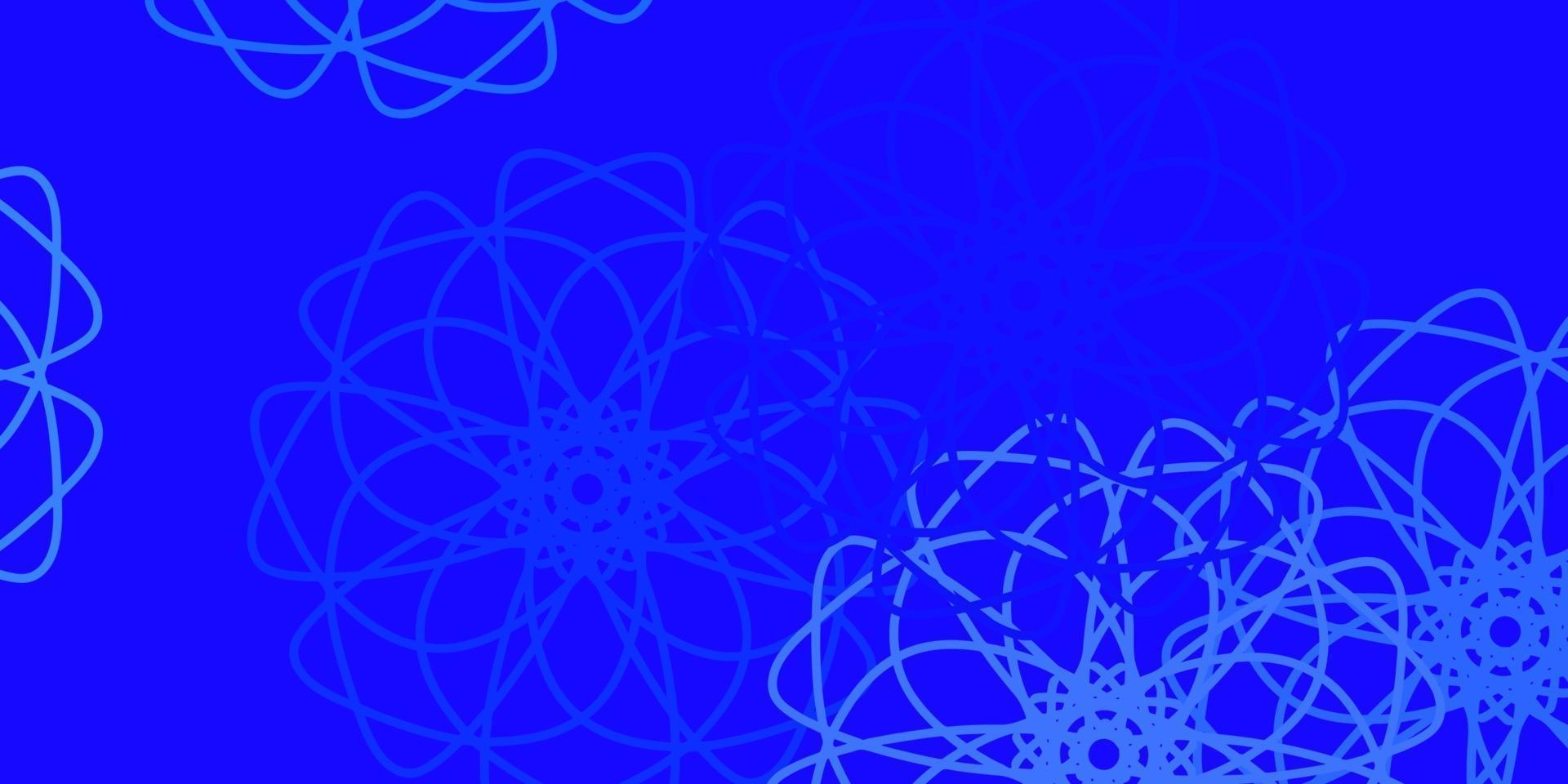 materiale illustrativo naturale di vettore blu chiaro, rosso con i fiori.