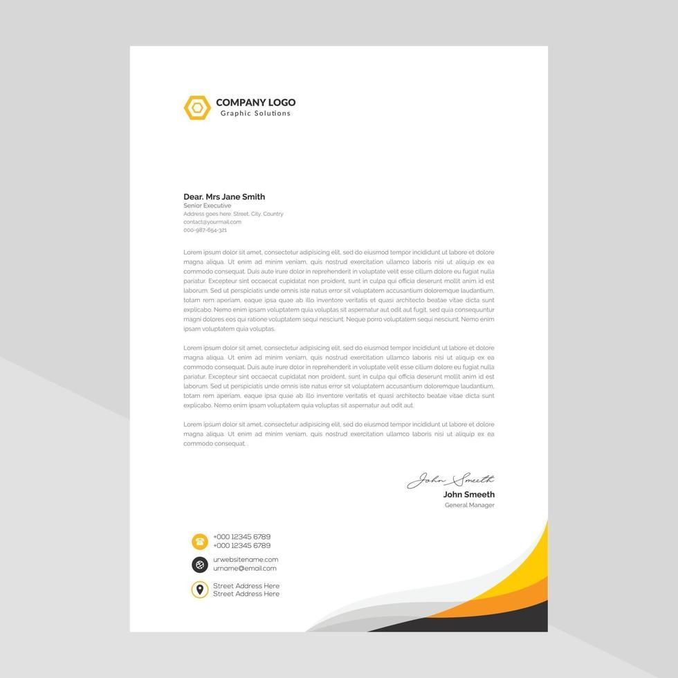modello di carta intestata design in stile minimalista vettore gratuito