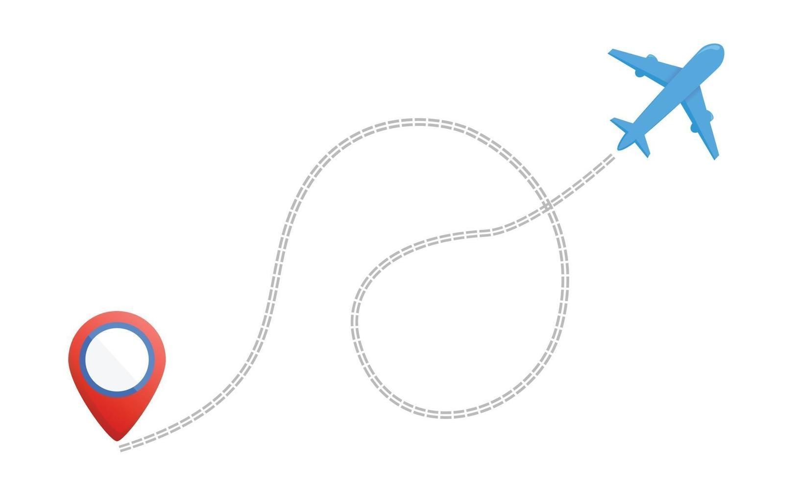 percorso della linea dell'aeroplano, tracciamento degli aerei, icona di viaggio, icona della rotta di volo dell'aereo vettore