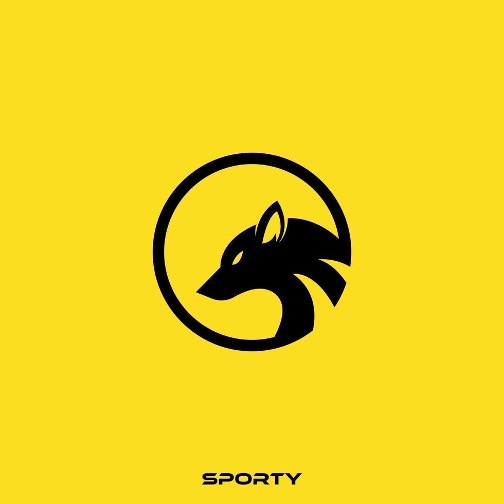 logo della testa di volpe vettore
