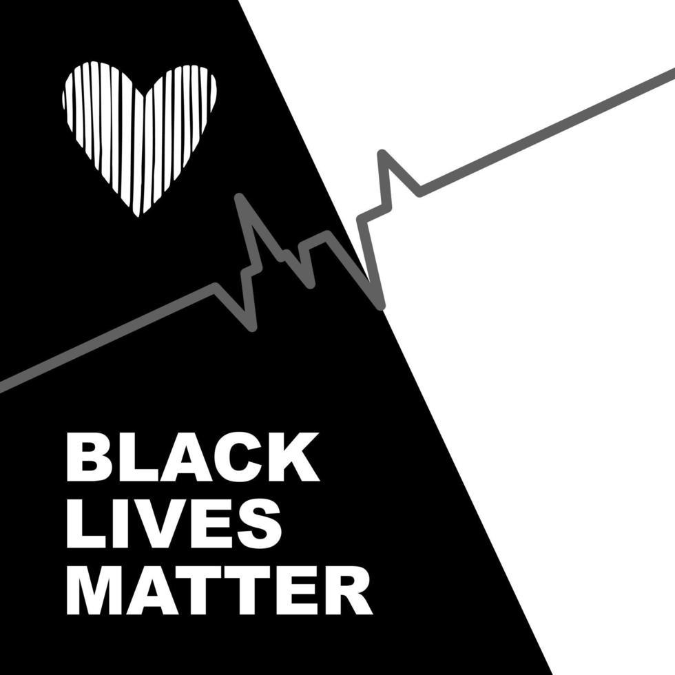 lo striscione bianco e nero rappresenta l'uguaglianza tra afroamericani e bianchi vettore