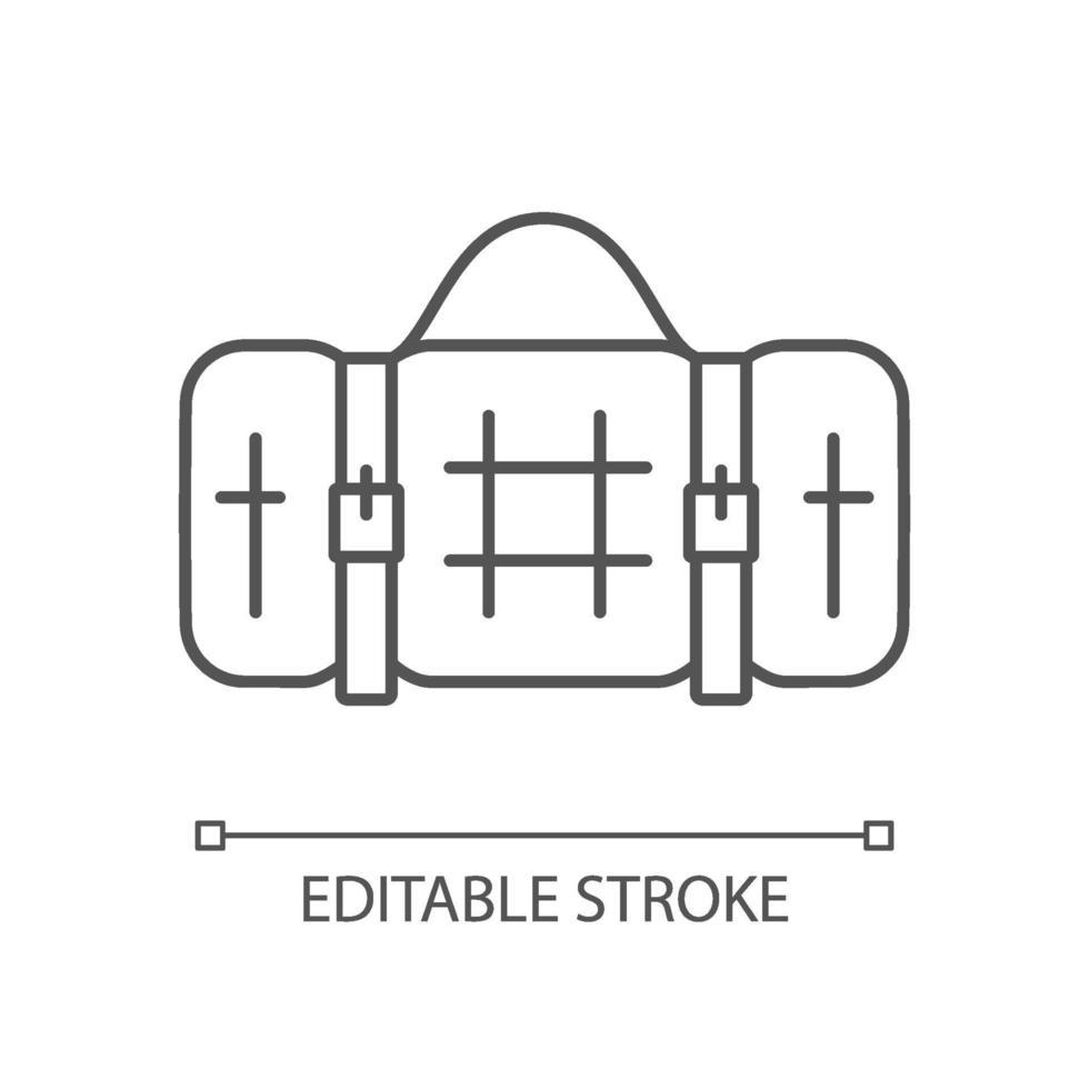 icona lineare coperta da picnic vettore