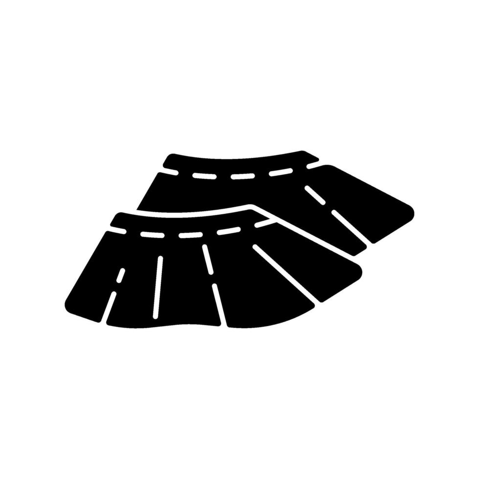 icona del glifo con copriscarpe nero vettore