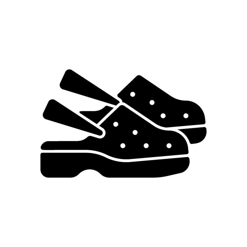 icona del glifo con scarpe mediche nere vettore