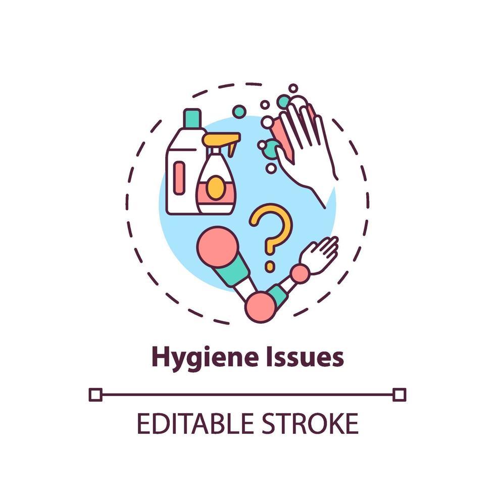 icona del concetto di problemi di igiene vettore