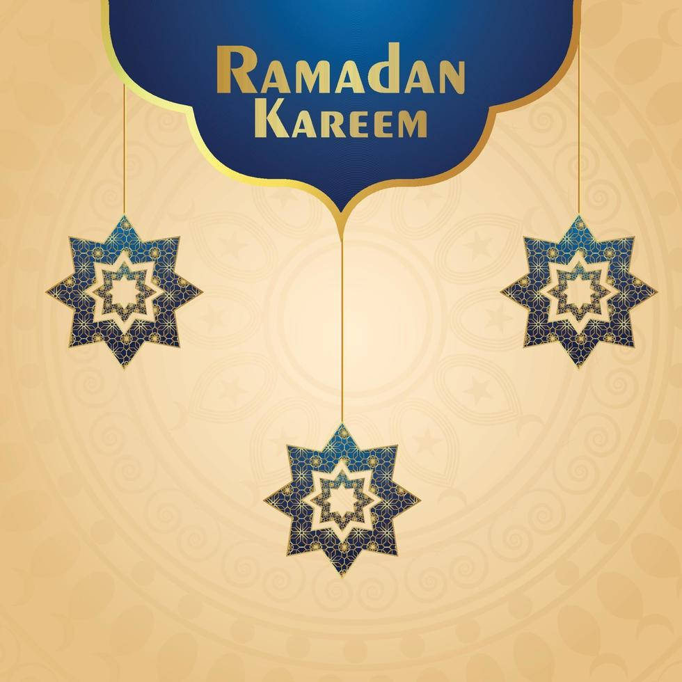illustrazione vettoriale creativo di sfondo celebrazione festival islamico di ramadan kareem