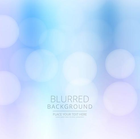 Bella illustrazione di sfondo sfocato blu vettore