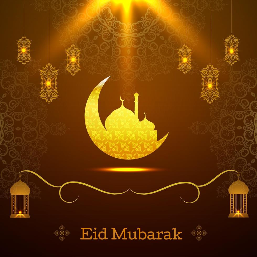 astratto santo elegante sfondo decorativo per eid mubarak vettore
