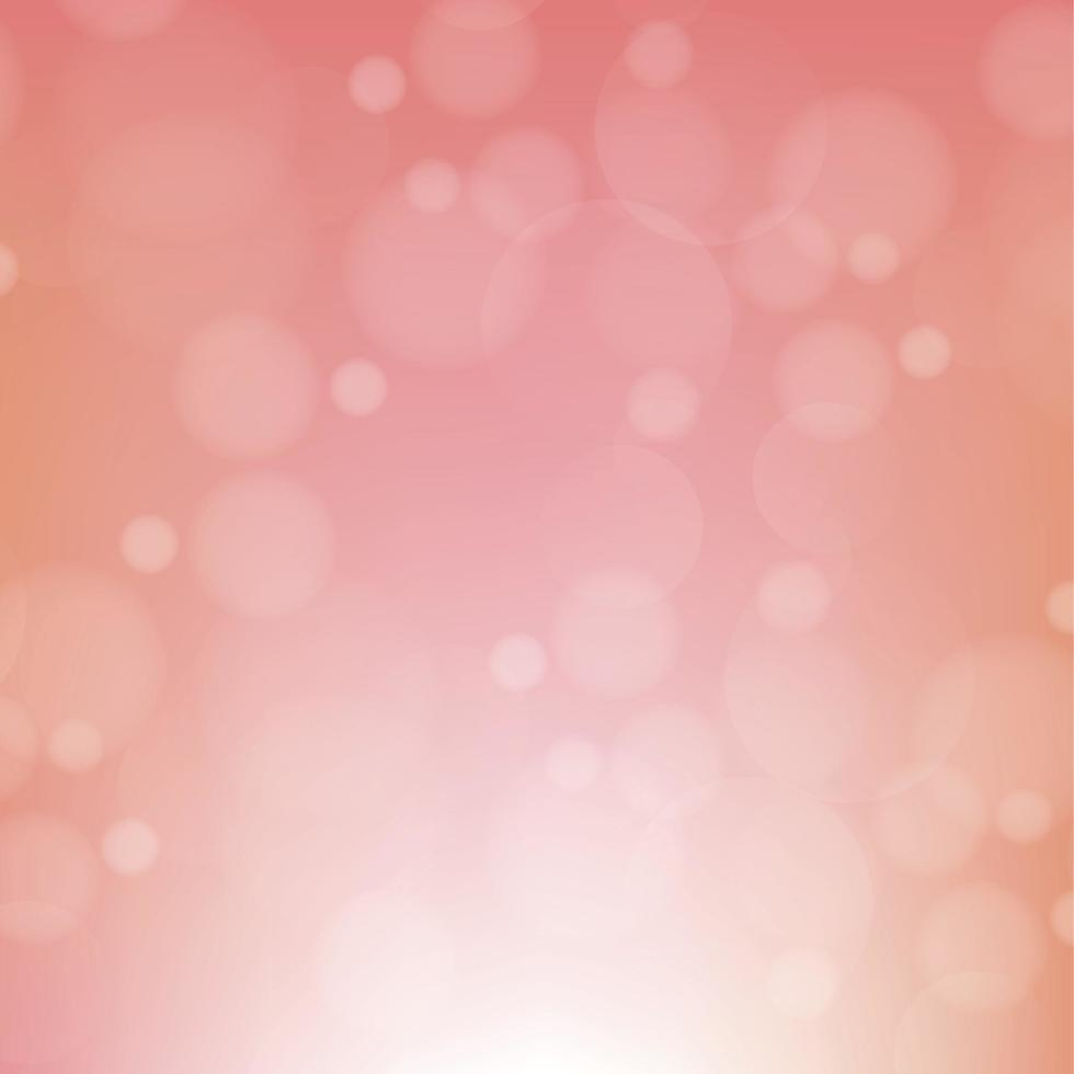 astratto sfondo sfocato rosso con effetto bokeh vettore