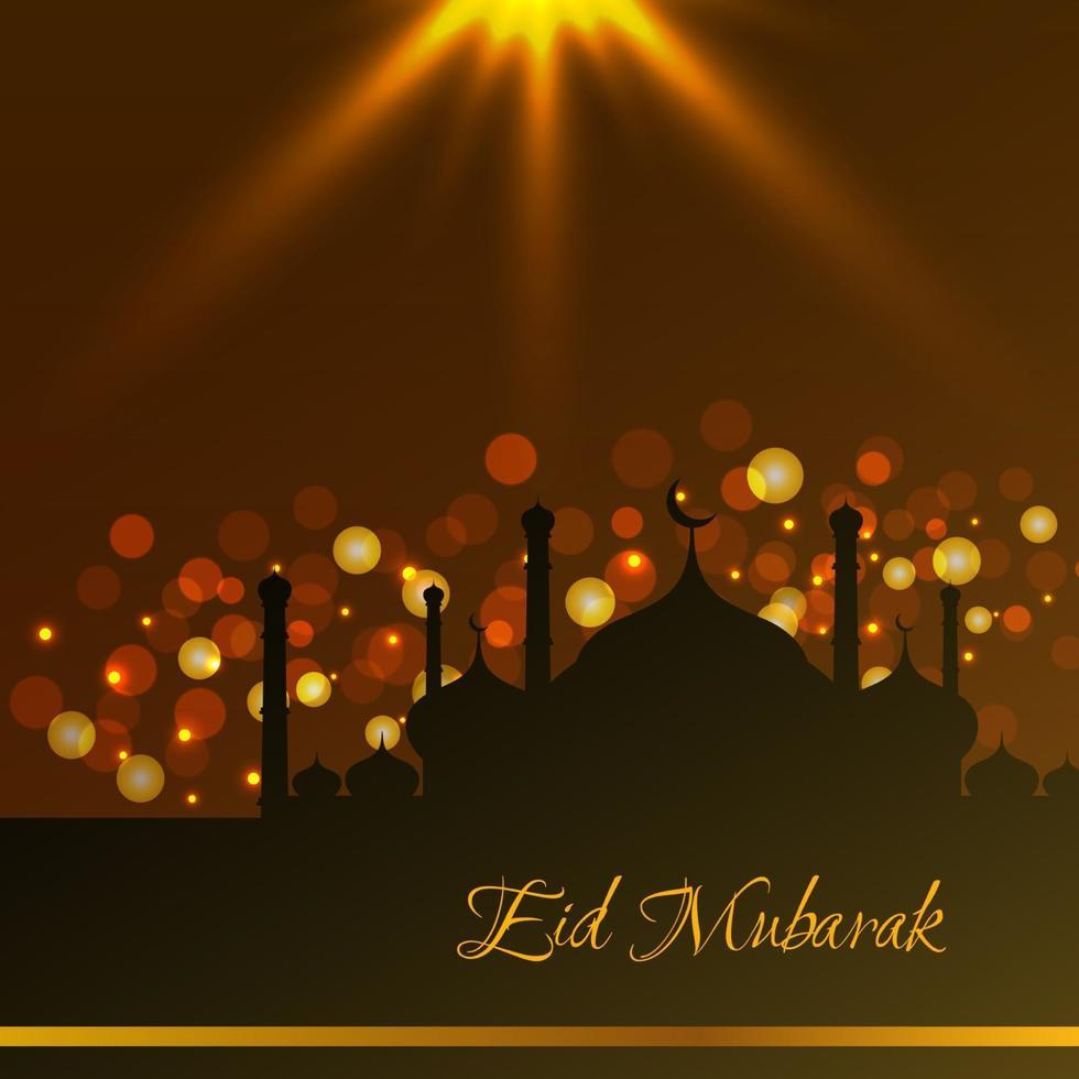 astratto eid mubarak islamico disegno di sfondo vettoriale