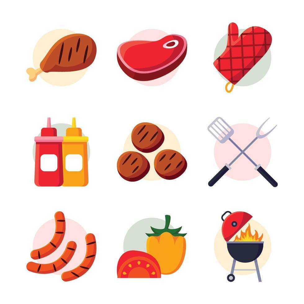 icona di picnic barbecue vettore
