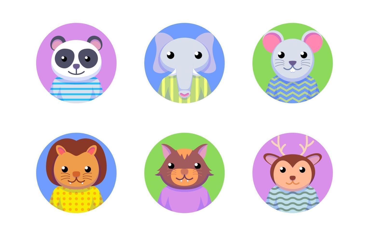 profilo del personaggio animale vettore