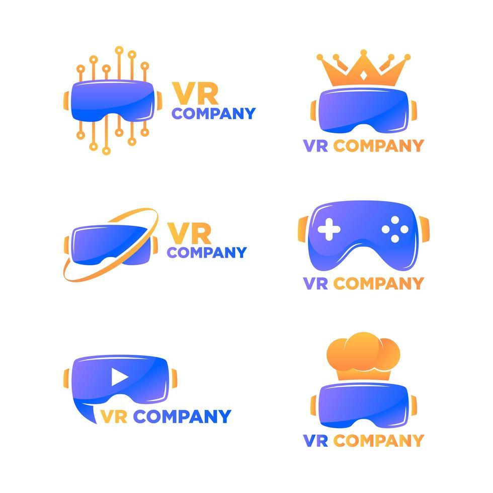 logo di realtà virtuale vettore