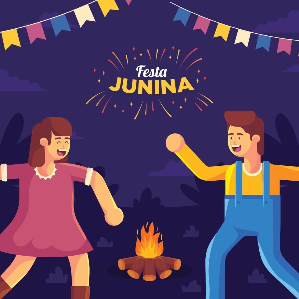 illustrazione di festa junina vettore