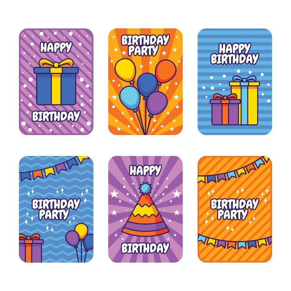 carta di buon compleanno vettore