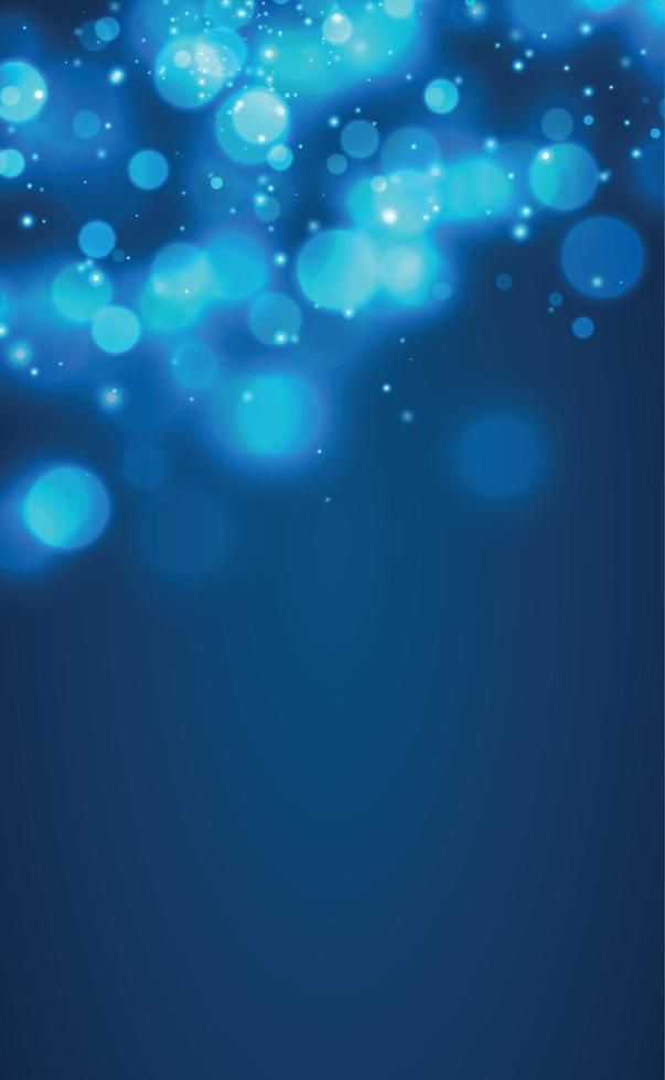 bokeh sfocato bianco su sfondo blu - vettore