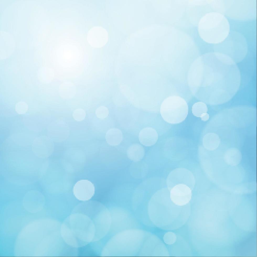 bokeh sfocato bianco su sfondo blu vettore