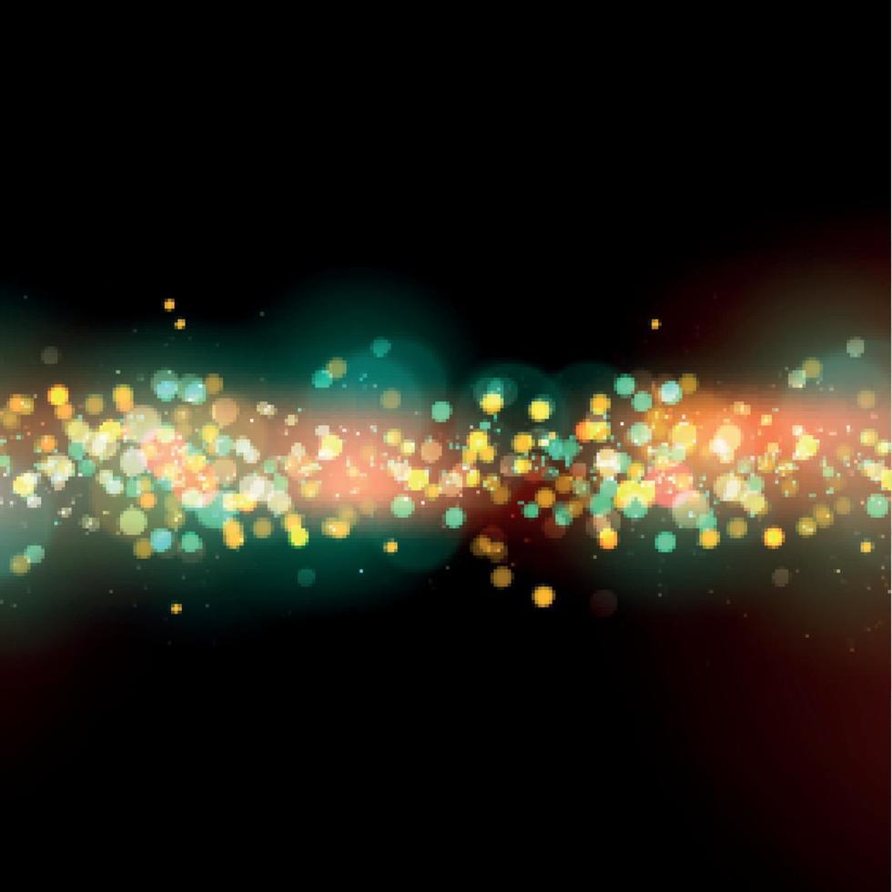 bokeh luminoso con riflessi su uno sfondo scuro vettore