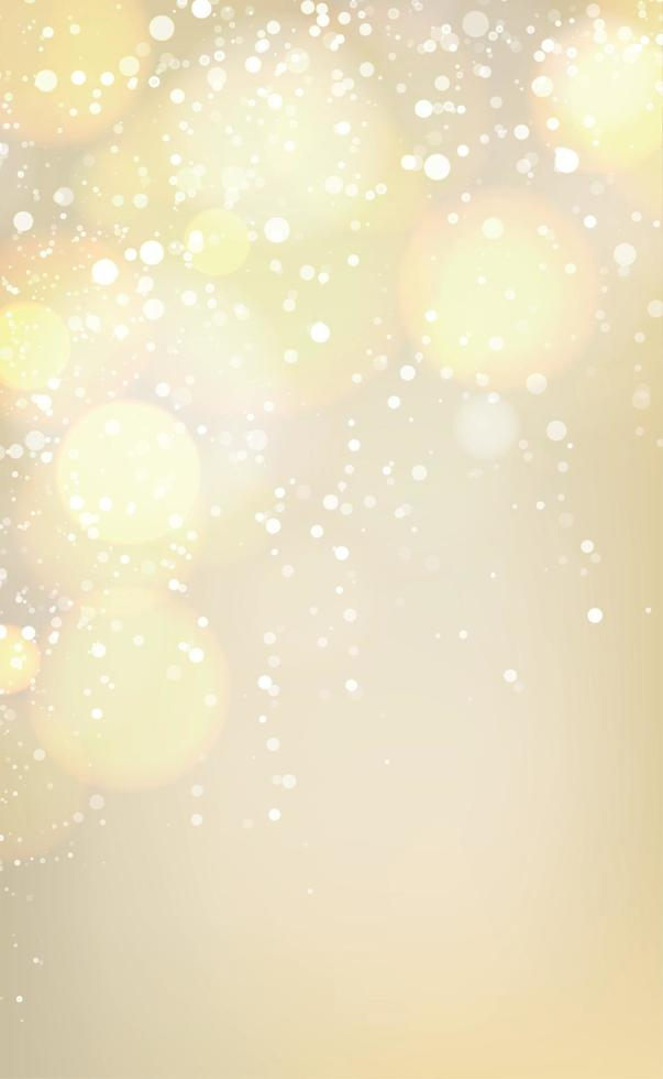 sfondo sfocato astratto giallo con effetto bokeh vettore