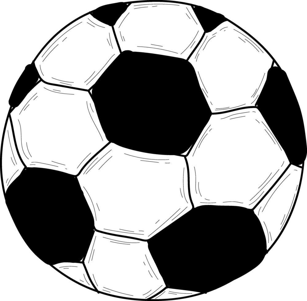 Doodle pallone da calcio isolato vettore