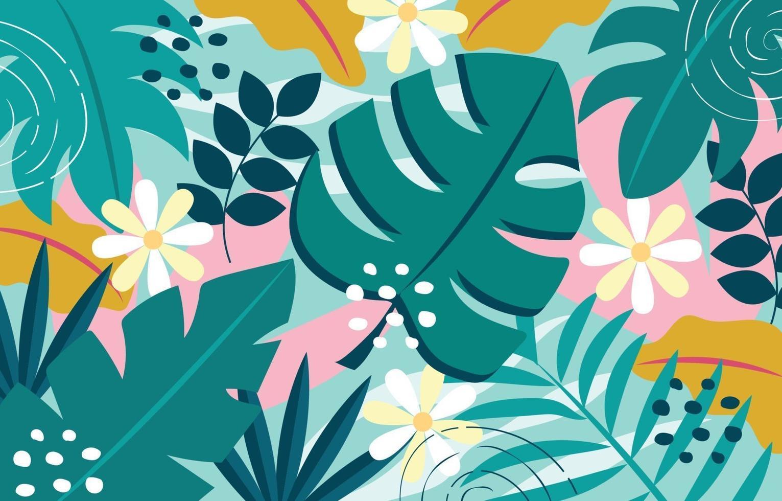 sfondo di fogliame tropicale vettore