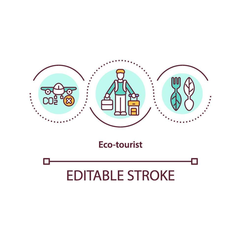 icona del concetto di turismo eco vettore