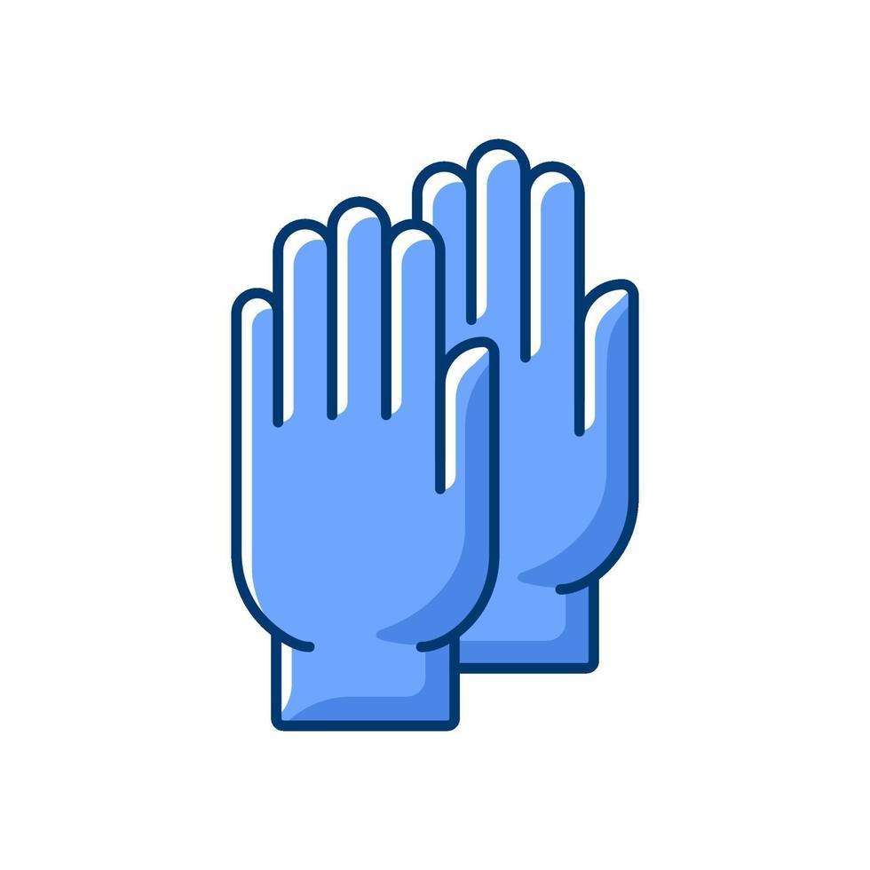 guanti medicali icona colore rgb vettore