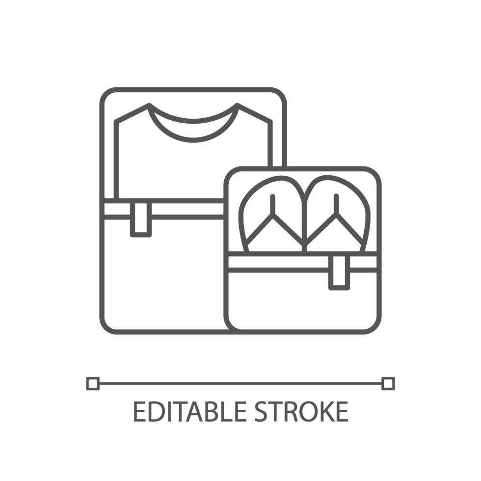 icona lineare di cubi di imballaggio vettore