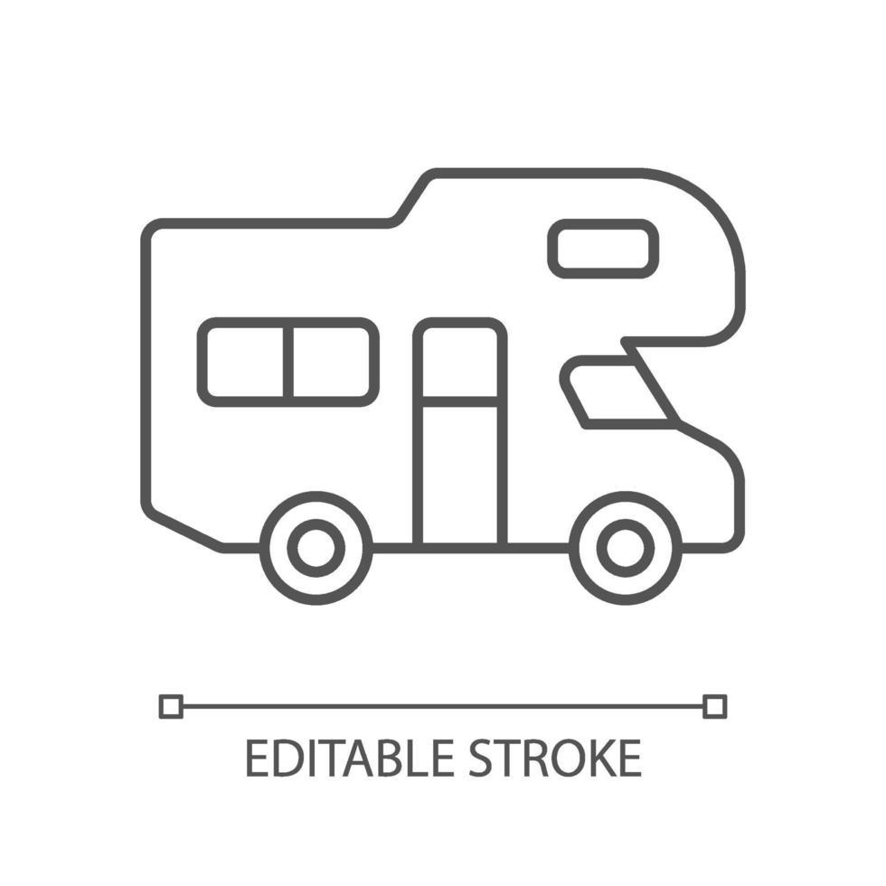 icona lineare del veicolo ricreativo vettore