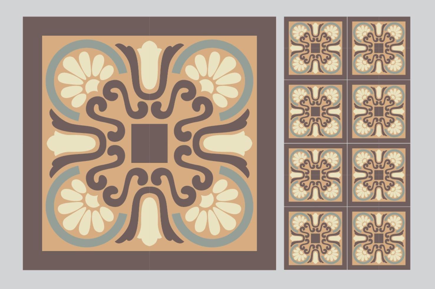 piastrelle portoghesi modelli antichi design senza soluzione di continuità in illustrazione vettoriale