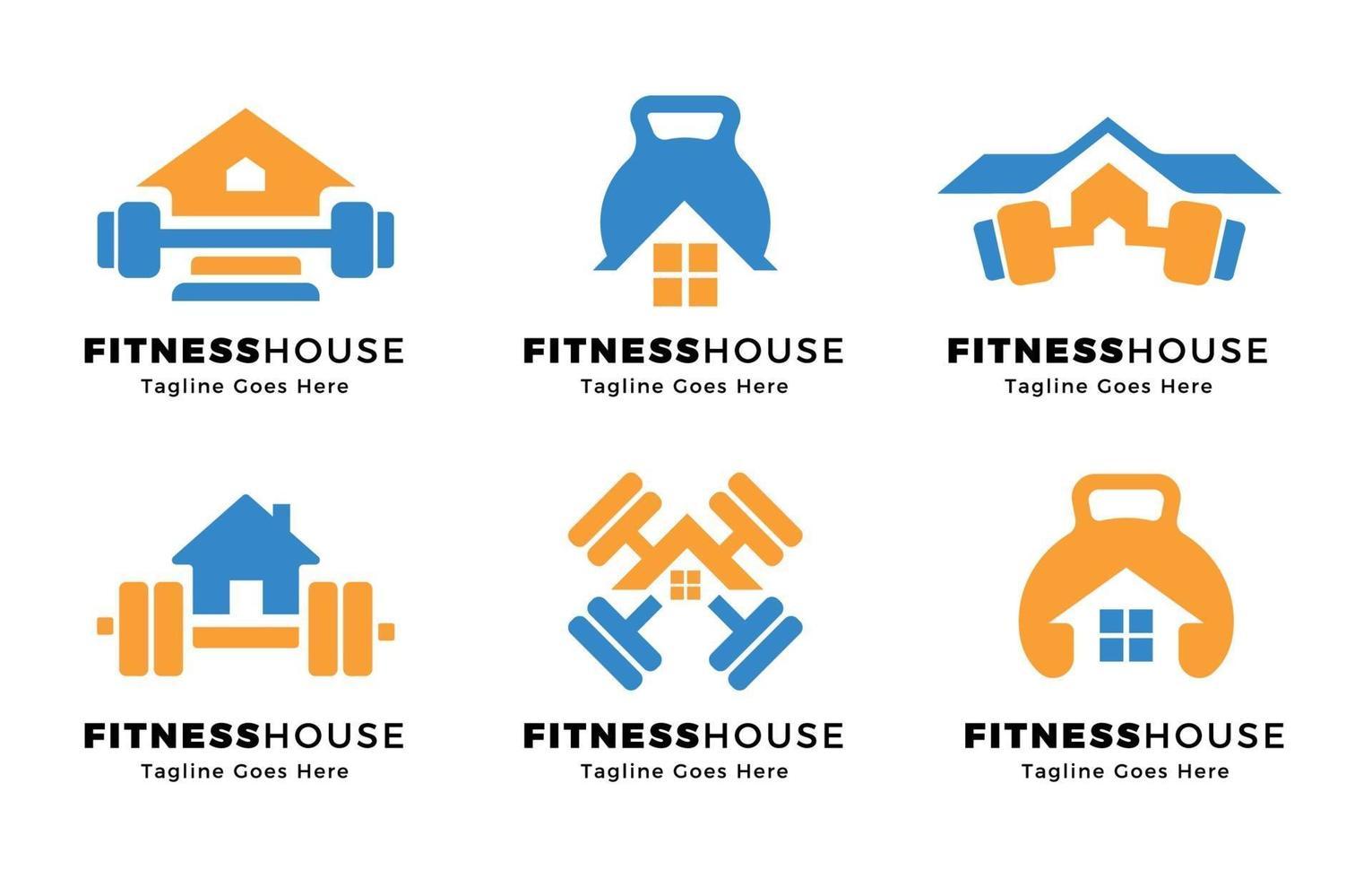 fitness a casa il concetto di logo vettore