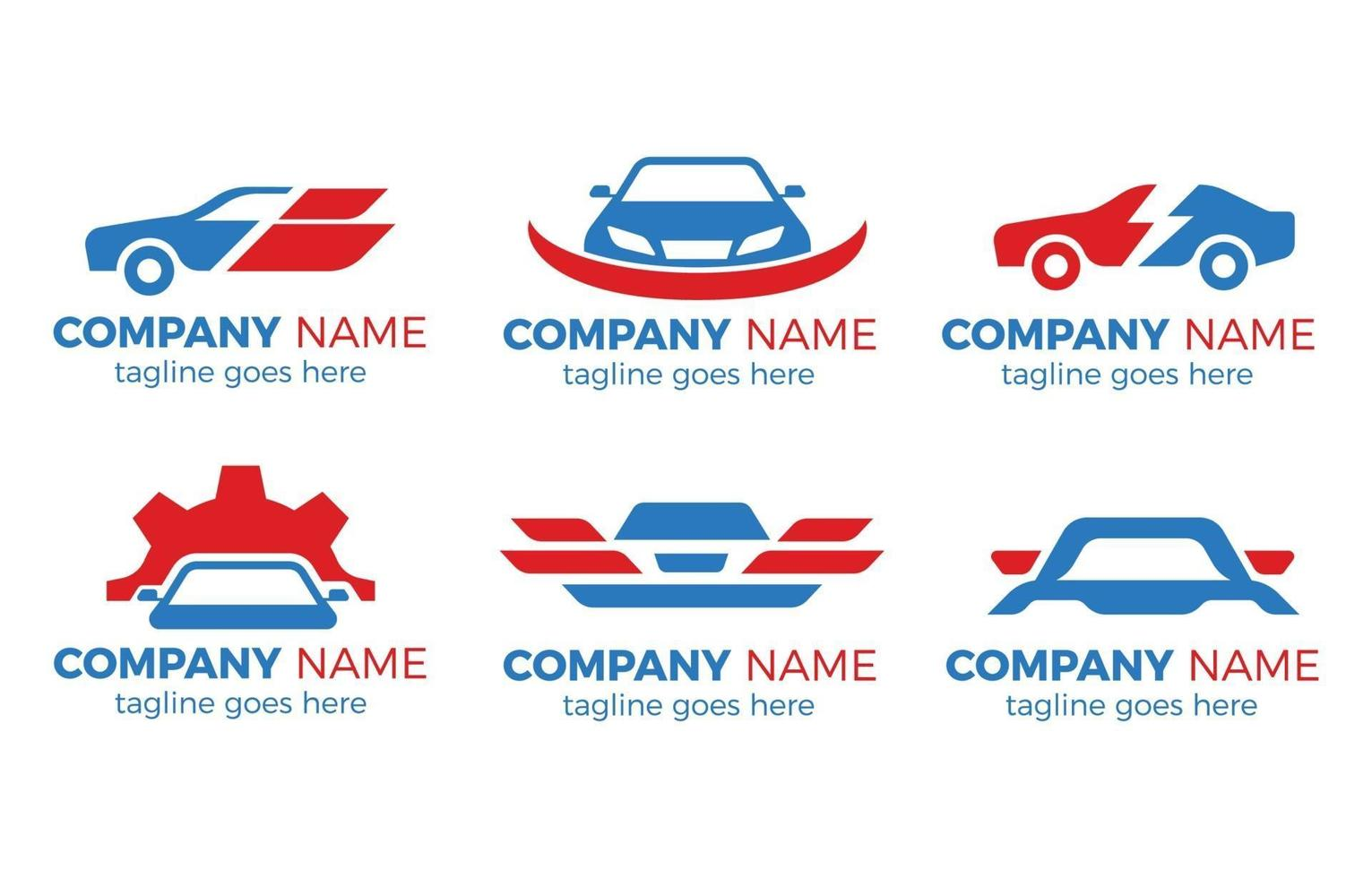 collezione logo auto vettore