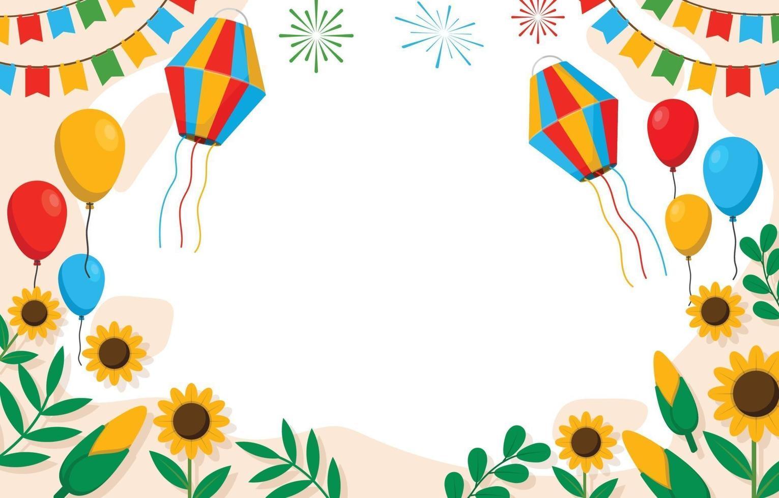 sfondo del festival festa junina vettore
