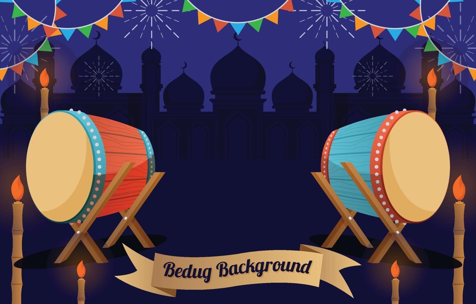 sfondo di ramadan con cimice vettore