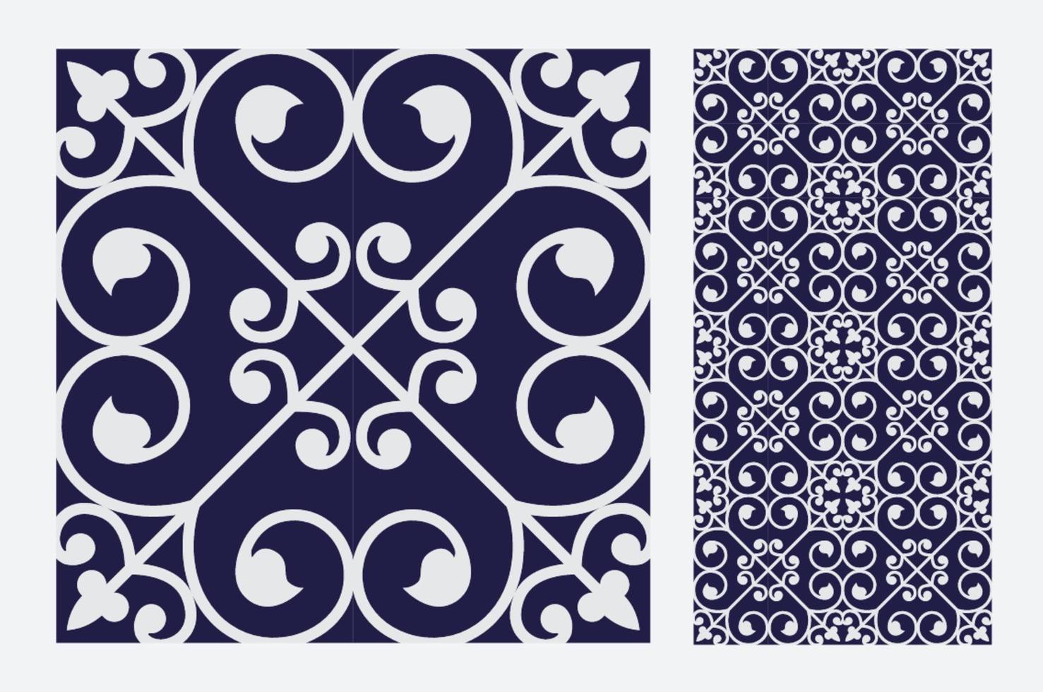 modelli di piastrelle d'epoca antico design senza soluzione di continuità in illustrazione vettoriale