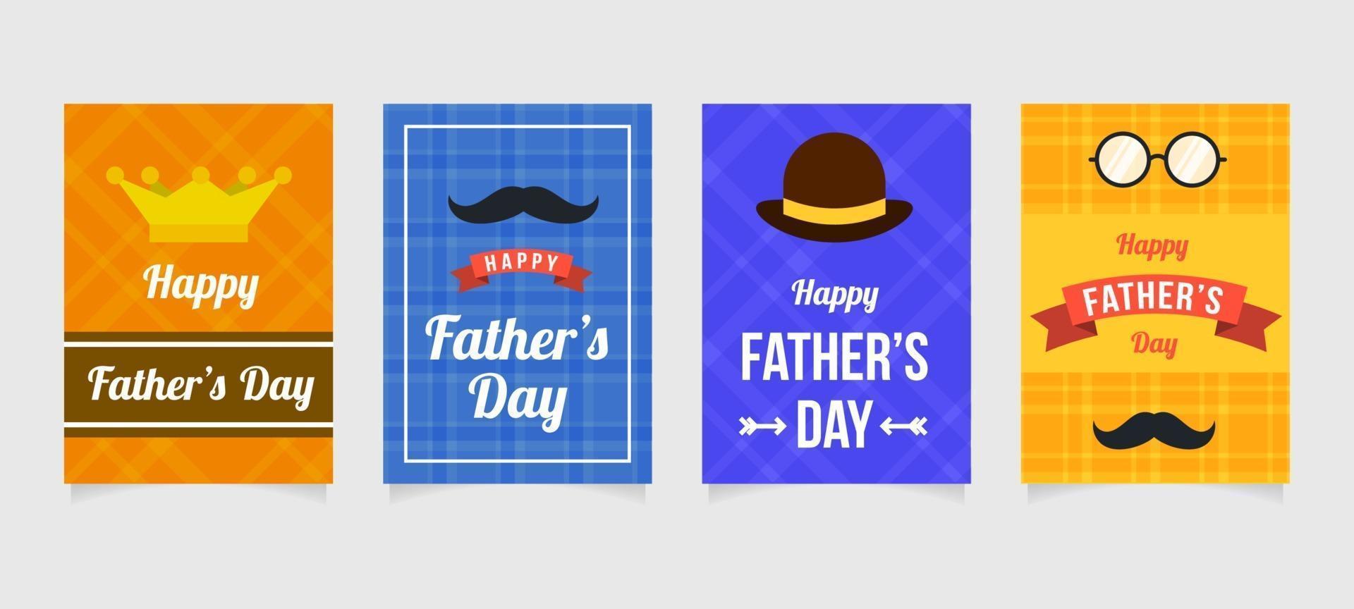 raccolta di carte festa del papà vettore