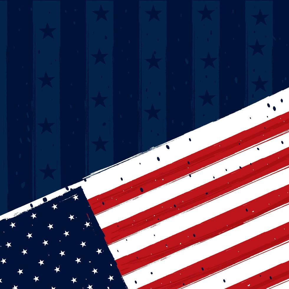 concetto di sfondo bandiera americana vettore