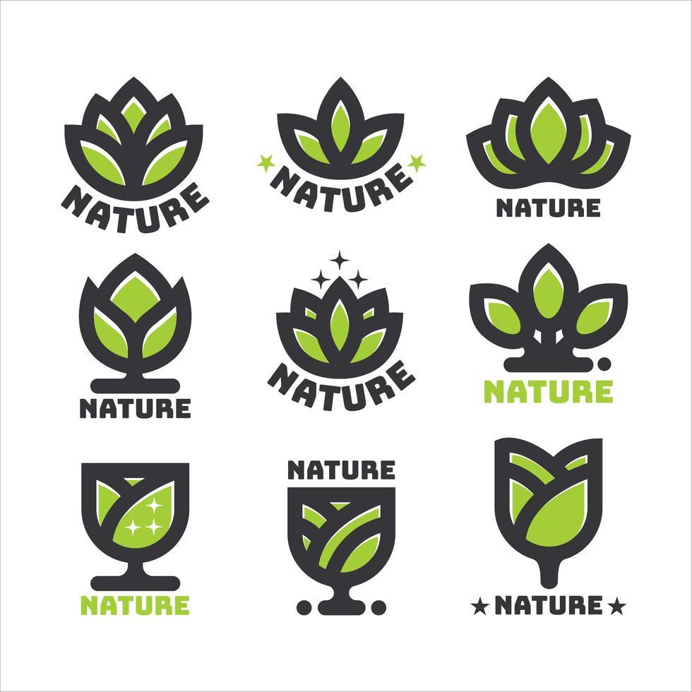 concetto di logo naturale vettore