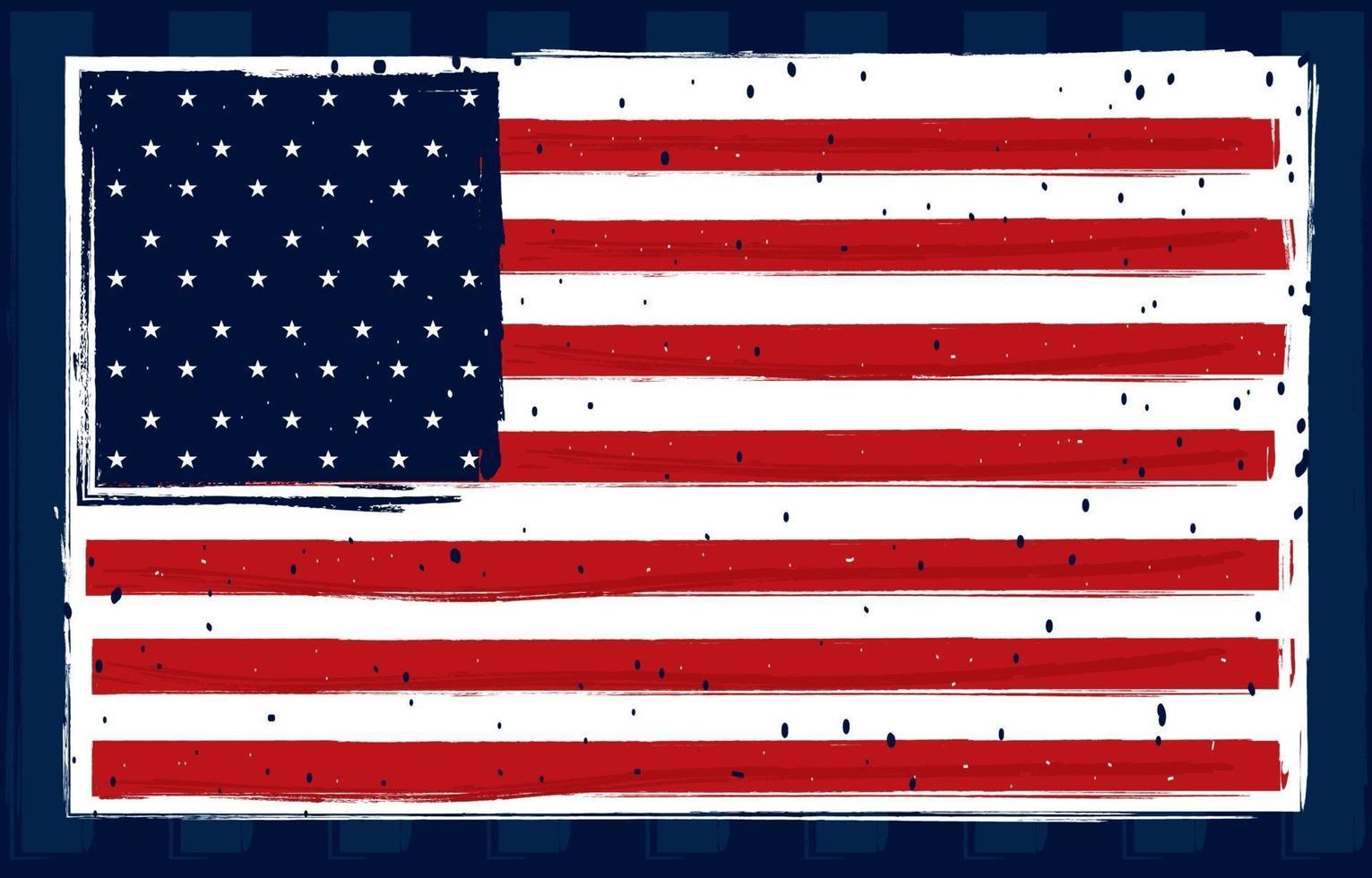concetto di illustrazione della bandiera americana vettore