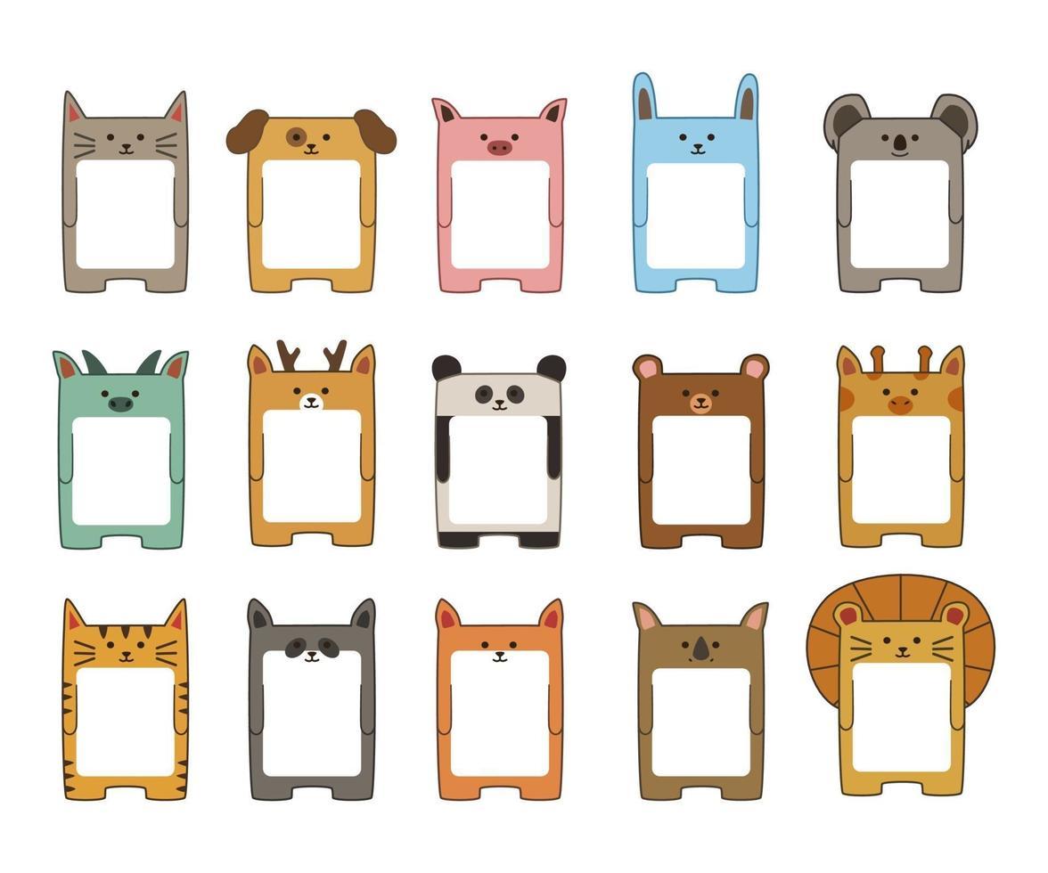 disegno vettoriale di note adesive del fumetto animale
