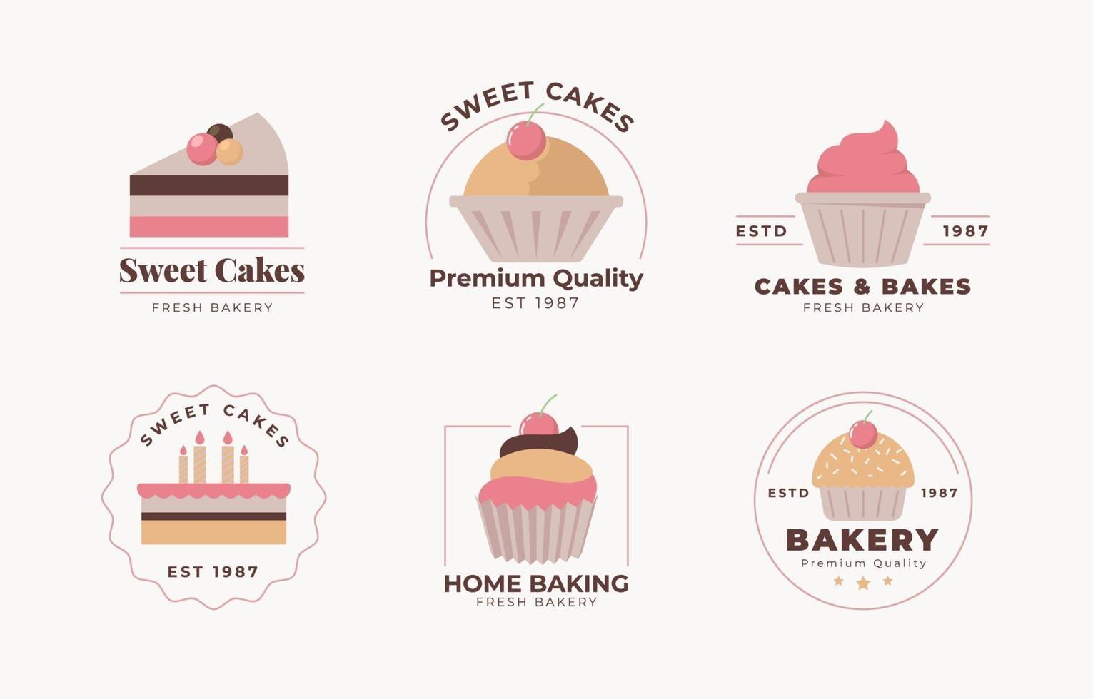 collezione logo torta vettore