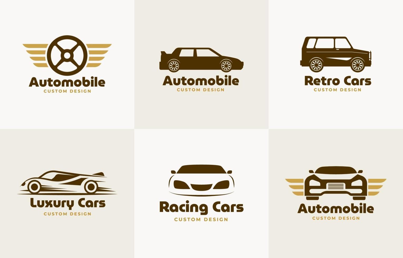 collezione di logo auto o automobilistico vettore