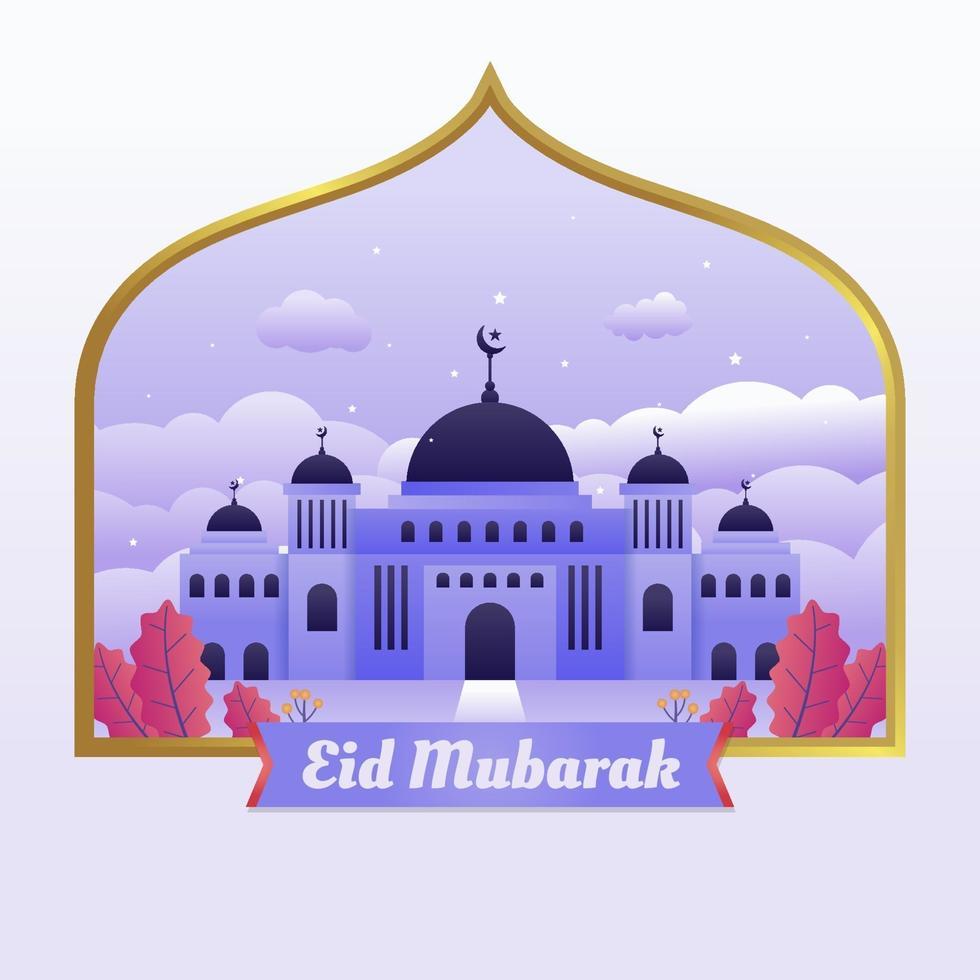 sfondo della moschea di eid vettore