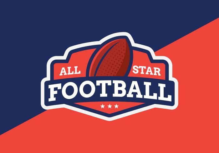 Emblema di All Star Football vettore