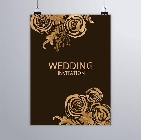 Design elegante brochure matrimonio astratto vettore