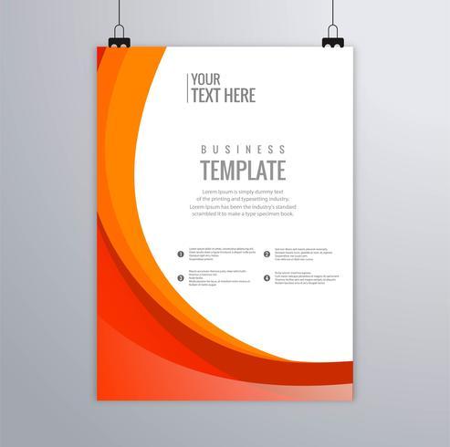 Design moderno modello di brochure business ondulato vettore