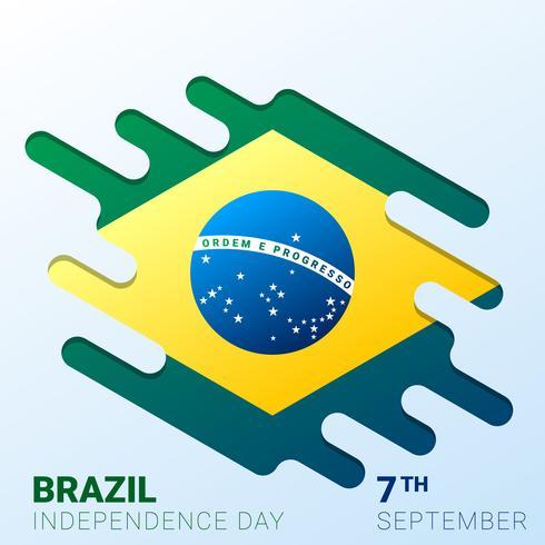 Fondo del giorno dell'indipendenza del Brasile vettore